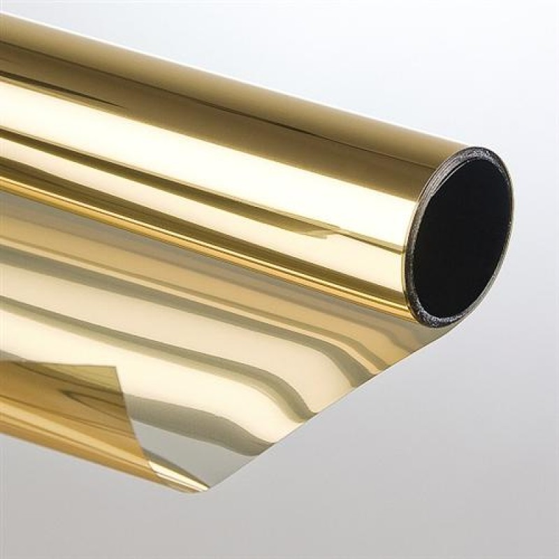 Sonnenschutzfolie Mit Spiegeleffekt 75 X 300cm Gold Bronze