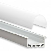 PN5 Heka C4 Aluminium Profil f. LED Streifen 2m + Abdeckung Opal